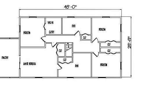 Log Home Plan #99537