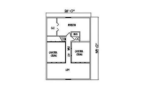 Log Home Plan #99543