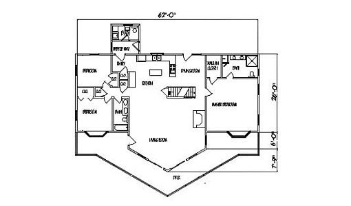 Log Home Plan #99552