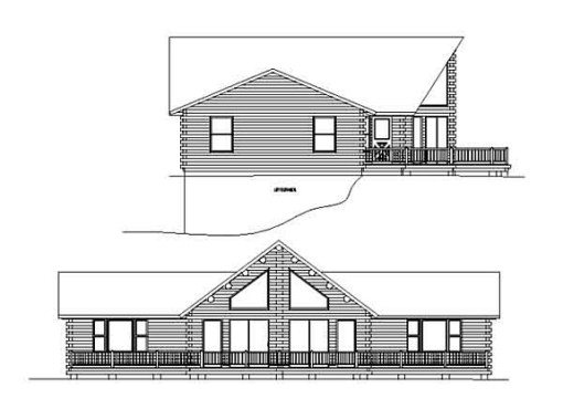 Log Home Plan #99552