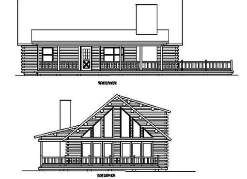Log Home Plan #99555