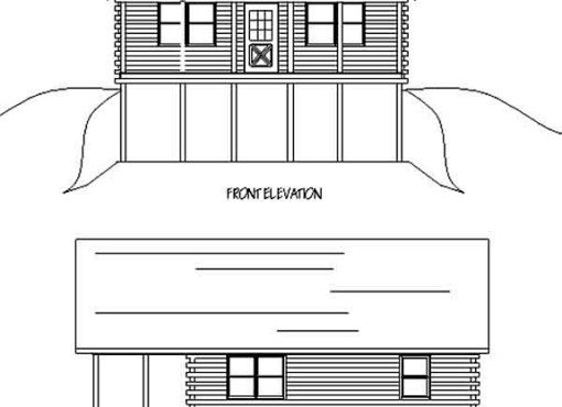 Log Home Plan #99558