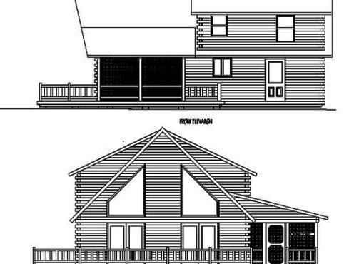 Log Home Plan #99564