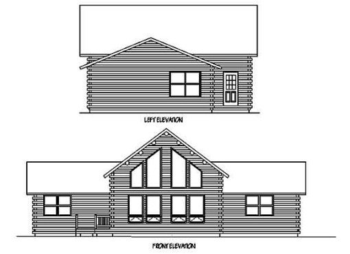 Log Home Plan #99567