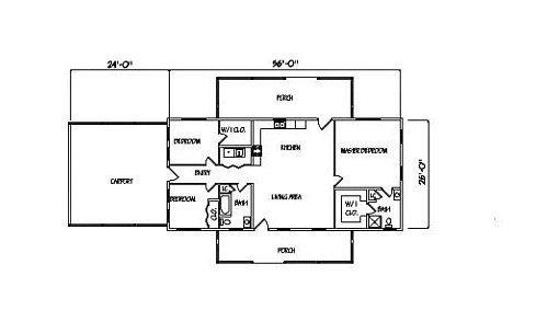Log Home Plan #99575