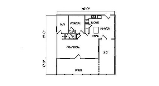 Log Home Plan #99576