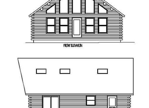 Log Home Plan #99586