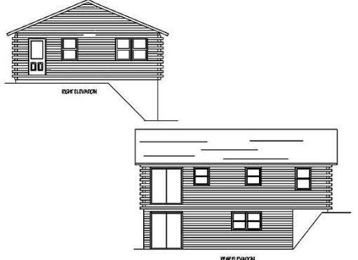 Log Home Plan #99597