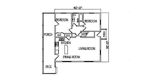 Log Home Plan #99598