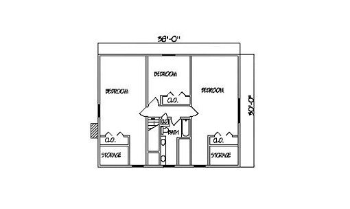Log Home Plan #99599