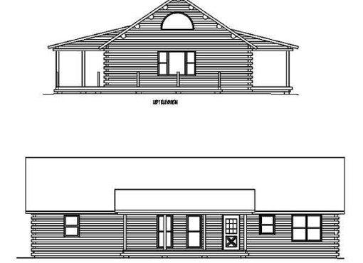Log Home Plan #99604