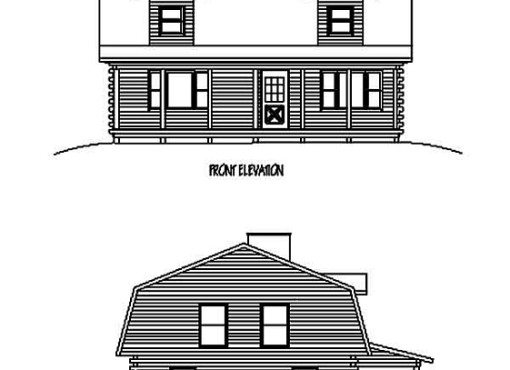 Log Home Plan #99606
