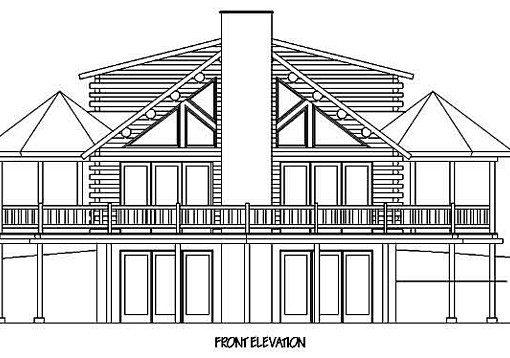 Log Home Plan #99610