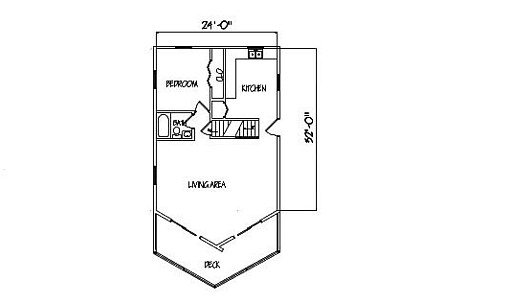 Log Home Plan #99619