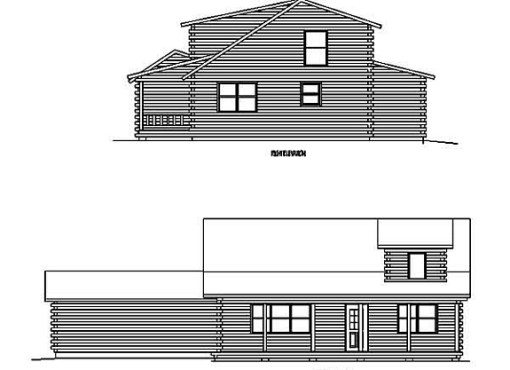Log Home Plan #99621