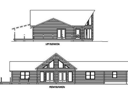 Log Home Plan #99628