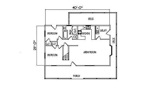 Log Home Plan #99640