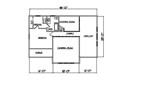 Log Home Plan #99642