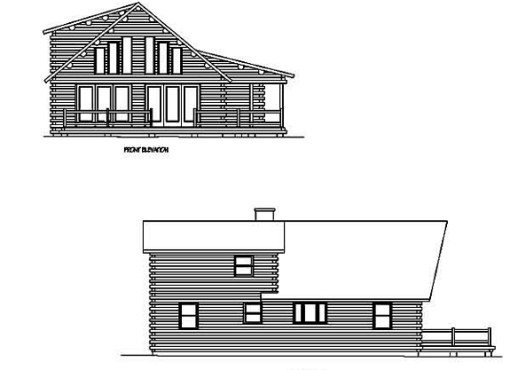 Log Home Plan #99764