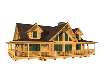 Bonanza katahdin cedar log homes floor plans for Ponderosa ranch house plans