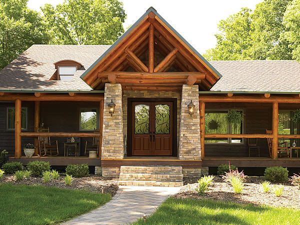 Green Tip: Design Your Own Green Door - Katahdin Cedar Log Homes
