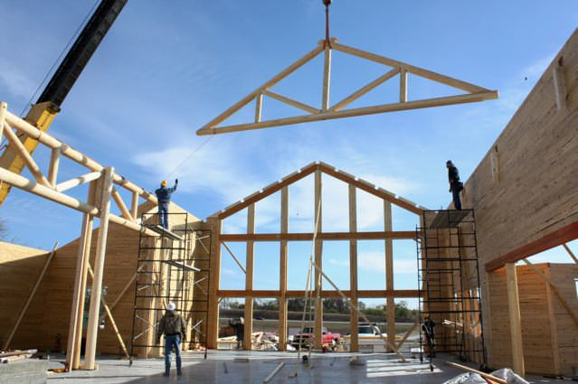 Trusses And Purlins Beauty And Strength Katahdin Cedar