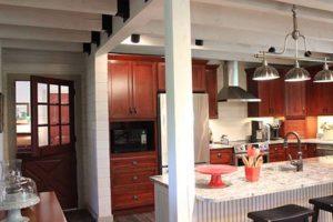 Your Own Private Kitchen Island Katahdin Cedar Log Homes