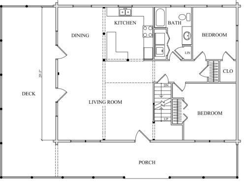 Log Home Plan #01871