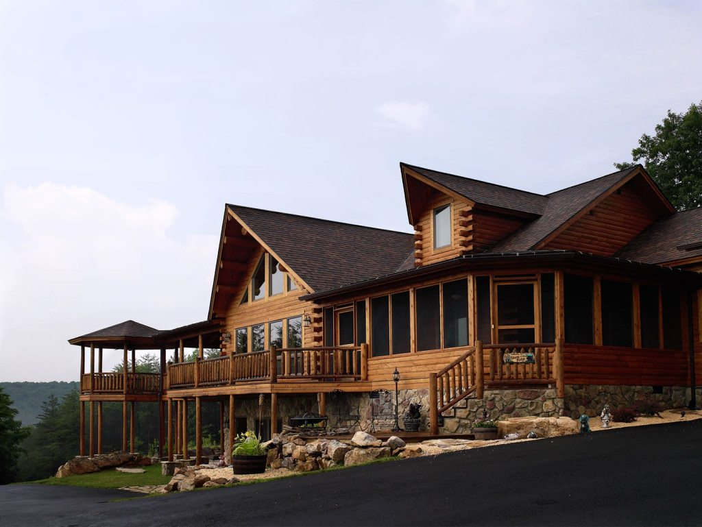 Cedar Log Homes ~ Bonanza  katahdin cedar log homes