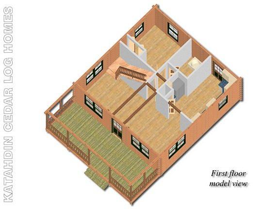 Bristol Katahdin Cedar Log Homes Floor Plans – Cedar Log Home Floor Plans