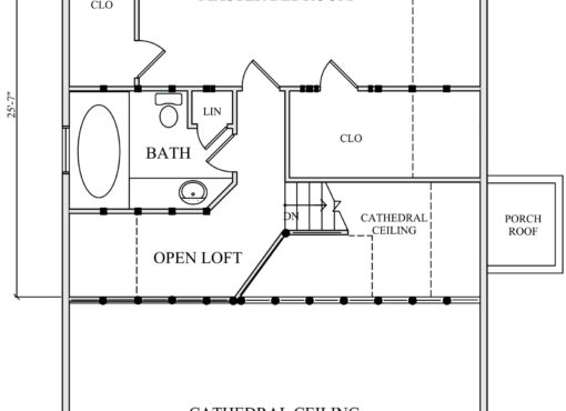 Log Home Plan #01866