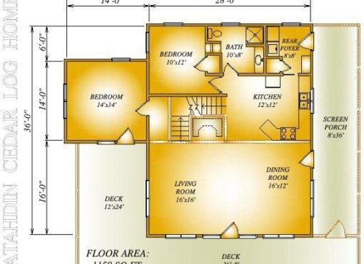 Log Home Plan #06549