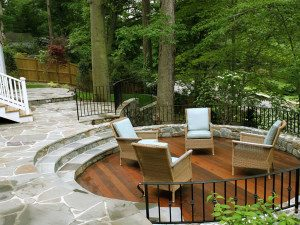 sloped site patio