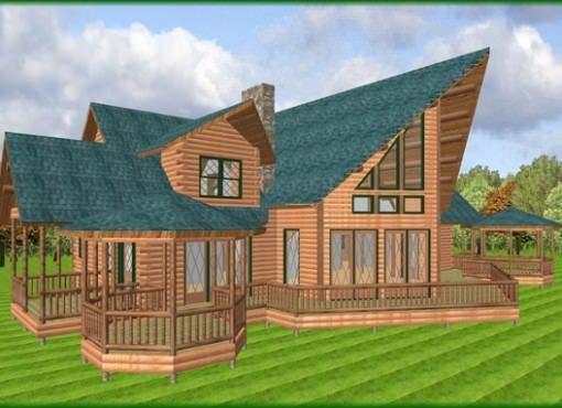 Log Home Plan #04387