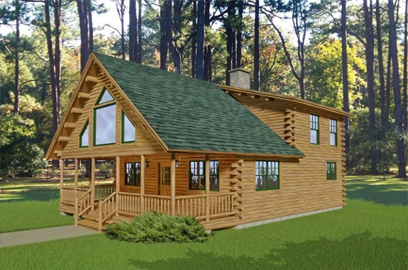 Denali katahdin cedar log homes floor plans for 1000 sq ft log cabin kits