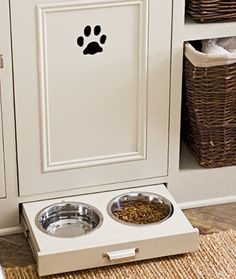 dog bowl drawer
