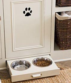 dog bowl drawer