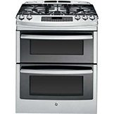 double oven range features