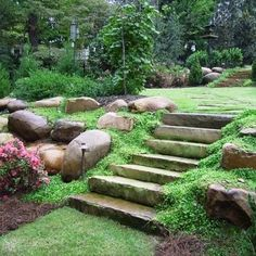sloped site terraced stairs