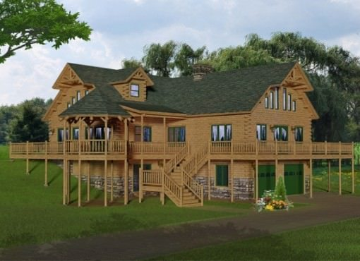 Custom log home floor plans katahdin design portfolio Extreme house plans