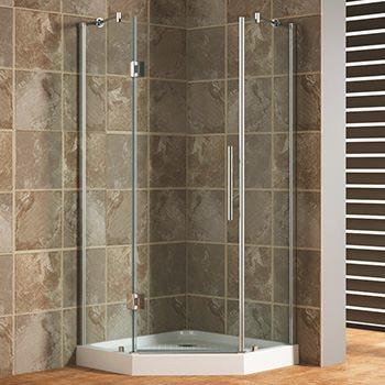Glass Shower Enclosures-Let the Light In! - Katahdin Cedar Log Homes