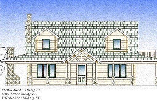 Log Home Plan #06562