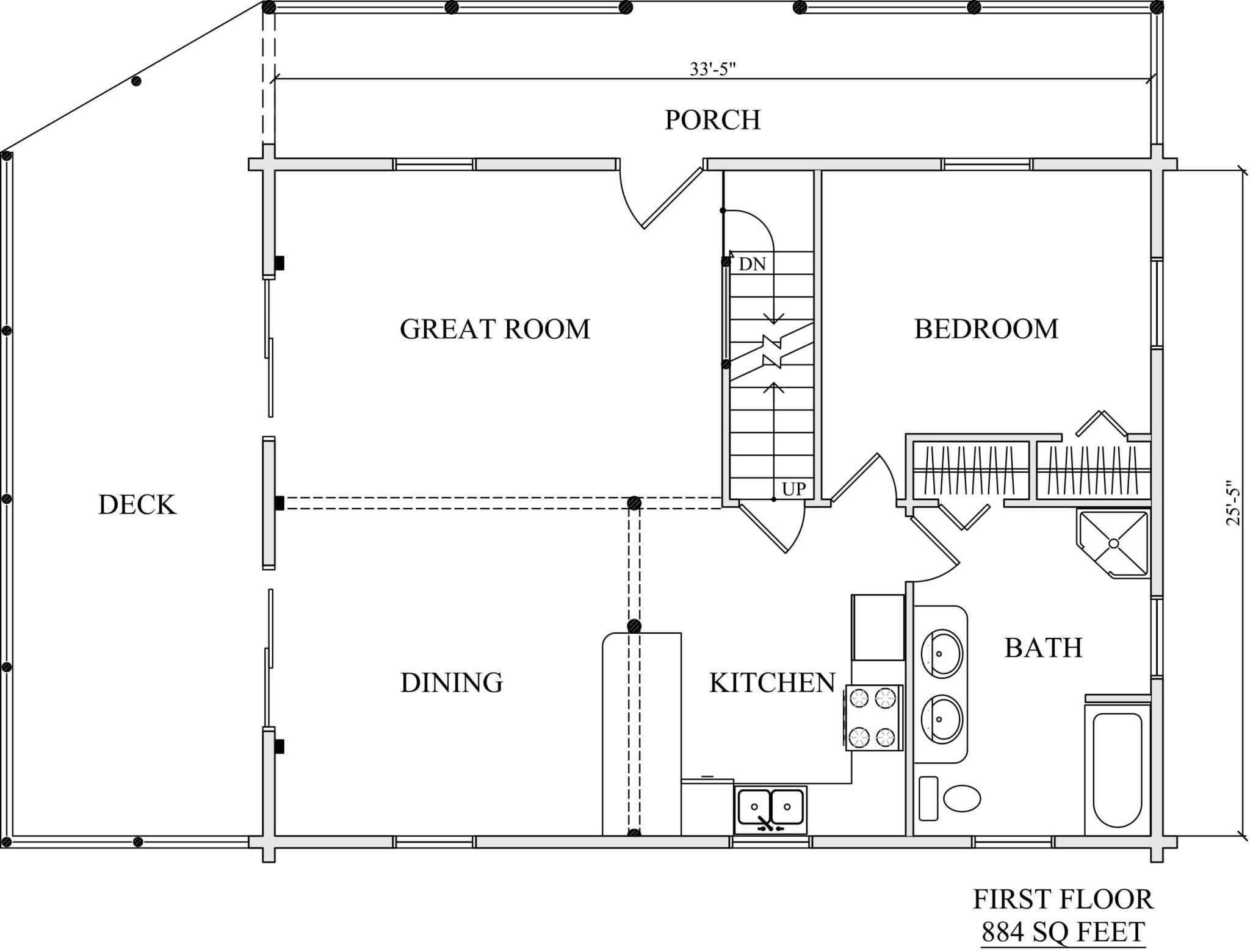 Log Home Plan #02954 - Katahdin Cedar Log Homes Floor Plans