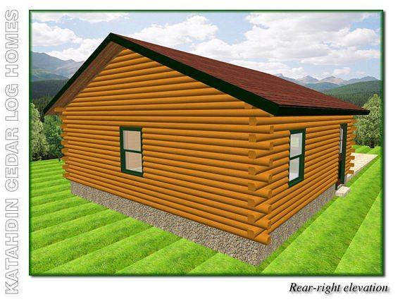 Garage b katahdin cedar log homes floor plans for Log home plans with garage