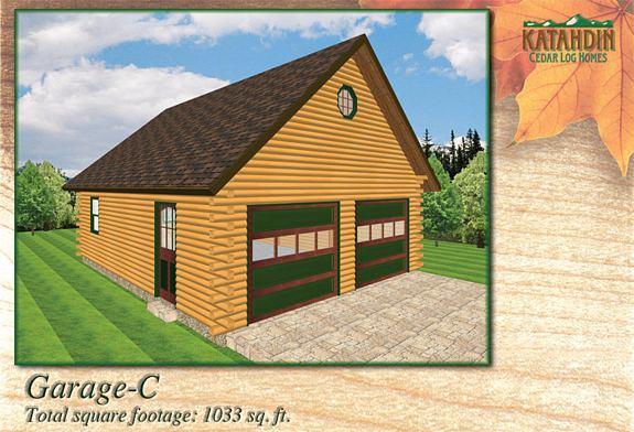 Garage C Katahdin Cedar Log Homes Floor Plans