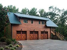 Cedar Log Garage Kits Katahdin Cedar Log Homes