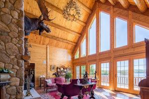 Katahdin Cedar Log Homes Pittsburg NH Victorian Log home Great Room