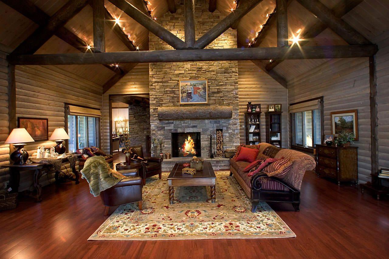 Living Room Makeover: Katahdin Cedar Log Homes Floor Plans