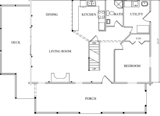 Log Home Plan #01796