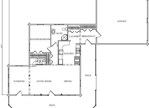 Log Home Plan #01833